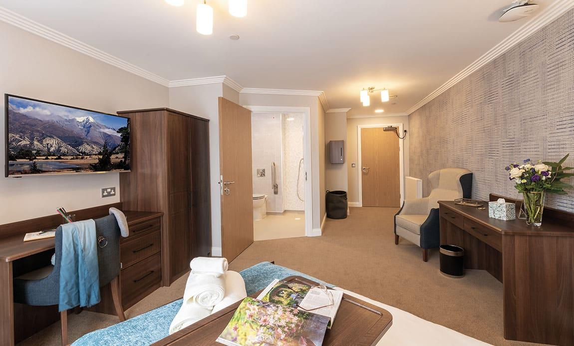 Bedroom Potters Grange Care Home