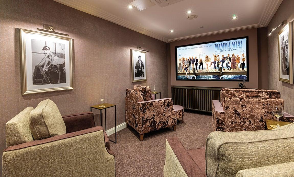 Potters Grange care home cinema